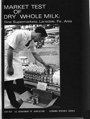 Market Test of Dry Whole Milk