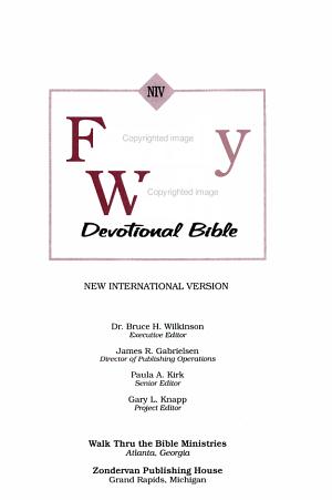 NIV Family Walk Devotional Bible PDF