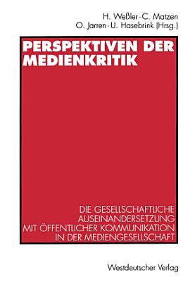 Perspektiven der Medienkritik PDF