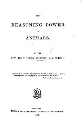 The Reasoning Power in Animals PDF