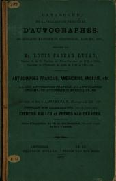 Catalogue de la Collection Precieuse D'Autographes
