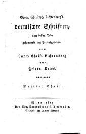 Vermischte Schriften ... nach dessen Tode gesammelt und herausgegeben von Ludw. Christ. Lichtenberg und Friedr. Kries: 23-27