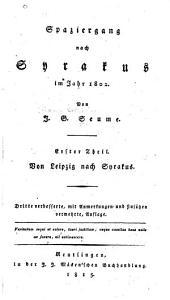 Spaziergang nach Syrakus im Jahr[e] 1802: Teil 1