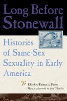 Long Before Stonewall PDF