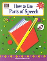 How to Use Parts of Speech  Grades 6 8 PDF