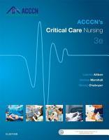 ACCCN s Critical Care Nursing   E Book PDF