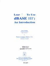 Learning to Use DBASE III PDF