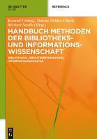 Handbuch Methoden der Bibliotheks  und Informationswissenschaft PDF