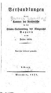 Verhandlungen der Kammer der Reichsräthe des Königsreiches Bayern ...: Band 10