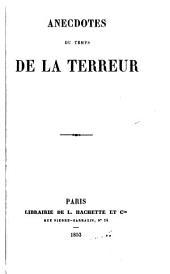 Anecdotes du temps de la terreur