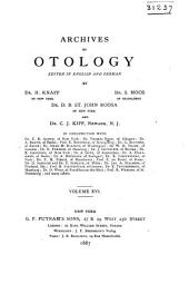 Archives of Otology: Volume 16