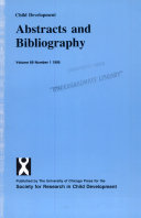 CHILD DEVELOPMENT ABSTRACTS AND BIBLIOGRAPHY PDF