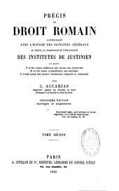 Précis de droit romain: Volume2