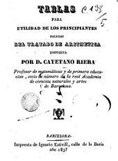Tablas para utilidad de los principiantes del tratado de Aritmética