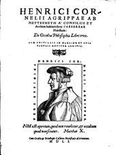 De occulta philosophia libri 3. cum postillis ... noviter additis