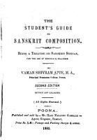The Student s Guide to Sanskrit Composition PDF