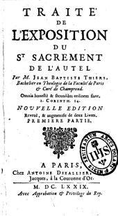 Traité de l'exposition du saint-sacrement de l'autel