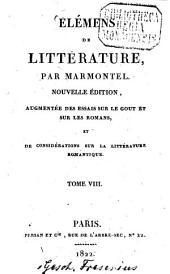 Élémens de Littérature: Volume8