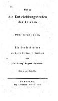 Ueber die Entwicklungsstufen des Thieres     PDF