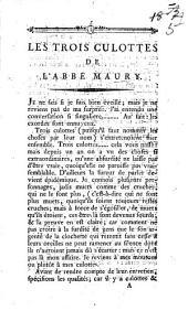 Les trois Culottes de l'abbé Maury
