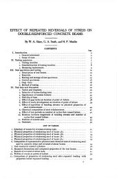 Effect of repeated reversals of stress on double-reinforced concrete beams: Issues 182-190