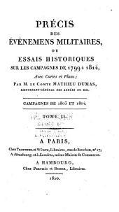 Précis des Évènements militaires ou Essai historique sur les Campagnes de 1799 à 1814: Volume10
