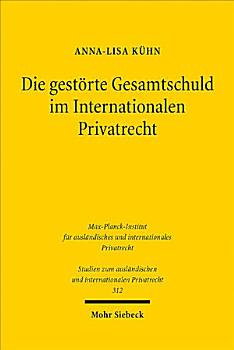Die gest  rte Gesamtschuld im Internationalen Privatrecht PDF