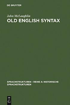 Old English Syntax PDF
