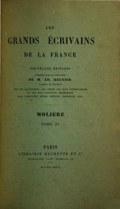Oeuvres de Moli  re  Notice bibliographique additions et corrections  par A  Desfeuilles Book