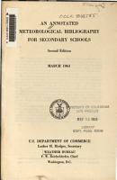 An Annotated Meteorological Bibliography for Secondary Schools PDF