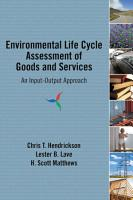 Environmental Life Cycle Assessment of Goods and Services PDF