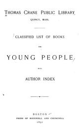 Classified List of Books for Young People: With Author Index