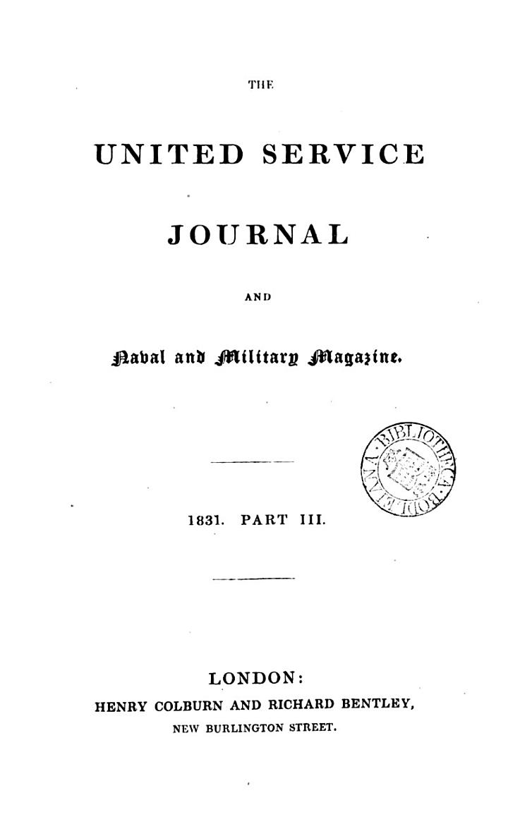 The United Service Journal and Naval and Military Magazine