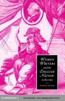 Women Writers and the English Nation in the 1790s PDF