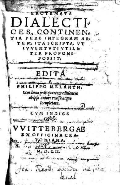 Erotemata Dialectices Continentia Fere Integram Artem Ita Scripta Vt Ivventvti Vtiliter Proponi Possit