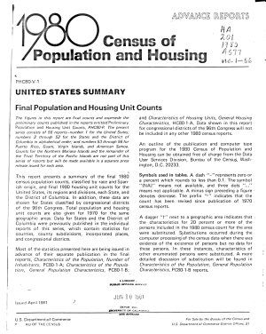 1980 Census of Population and Housing   Advance Reports PDF