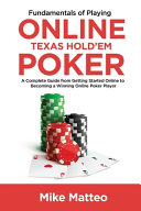 Fundamentals of Playing Online Texas Hold em Poker PDF
