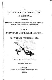 Principles and recent history
