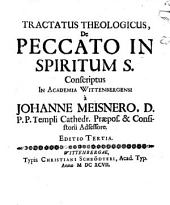 Tractatus theol. de peccato in Spiritum S.