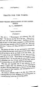 Bishop Wilson's meditations on his sacred office. No. 5, continued. [Continued from tract 55.]