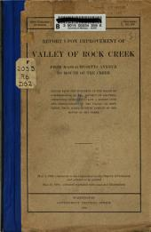 Report Upon Improvement of Valley of Rock Creek, from Massachusetts Avenue to Mouth of the Creek