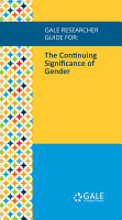 Gale Researcher Guide for  The Continuing Significance of Gender PDF