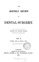 The Monthly Review of Dental Surgery PDF