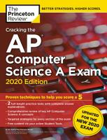 Cracking the AP Computer Science A Exam  2020 Edition PDF