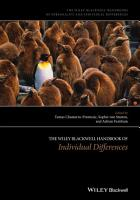 The Wiley Blackwell Handbook of Individual Differences PDF