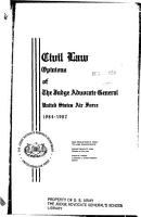 Civil Law  Opinions of the Judge Advocate General  United States Air Force  1984 1987 PDF