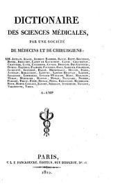 Dictionaire des sciences médicales: A - amp, Volume1