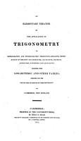 An Elementary Treatise on the Application of Trigonometry PDF