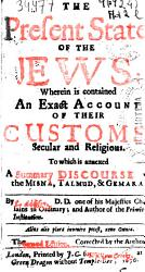 The Present State Of The Jews Book PDF
