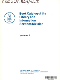 Book Catalog of the Library and Information Services Division  Shelf List catalog